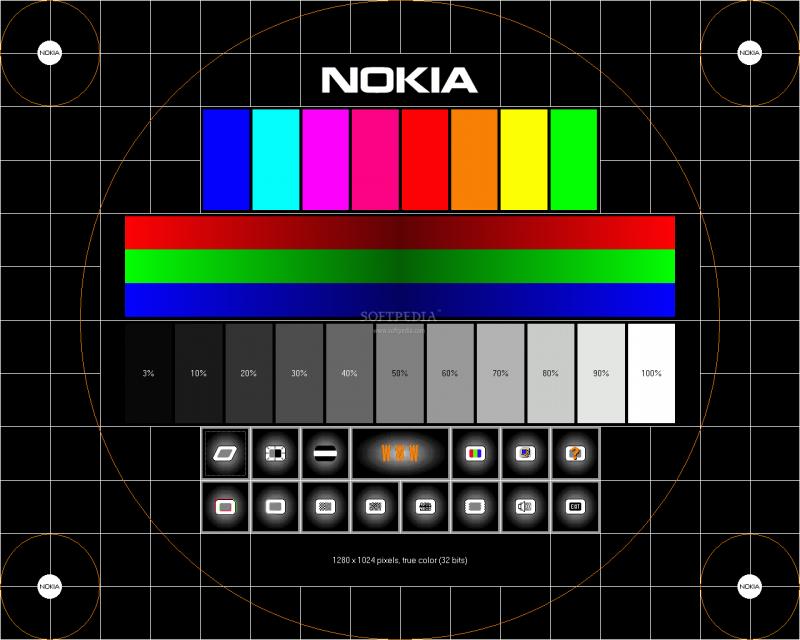 пиоверка цветности экрана планшета при высокой