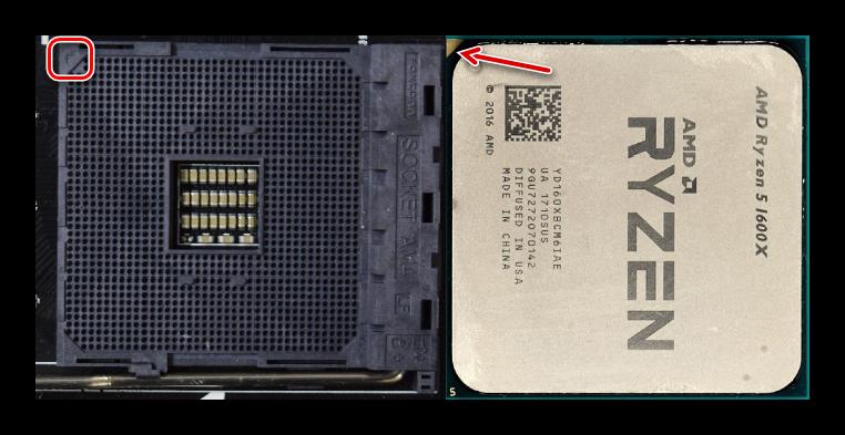 Определение правильного положения процессора AMD